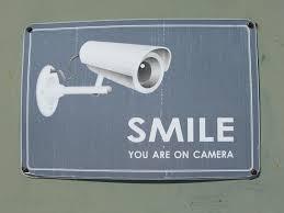 More and more camera's appear in the streets. It enlarges security, but it decreases the privacy. Iedere dag verschijnen er weer nieuwe camera's in het straatbeeld. Het vergroot dan mischien de veiligheid, het verkleint de privacy.