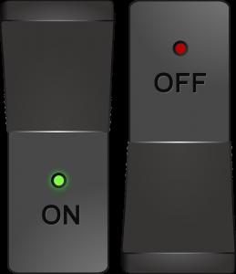 On off switch. There will be no such thing as an on and off switch when it comes to singularity. Een aan- en uitschakelaar. Als het om singulariteit gaat zal er niet zoiets bestaan als een aan- en uitknop.