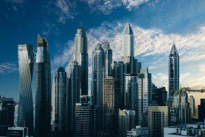 Stad van de toekomst. Skyline