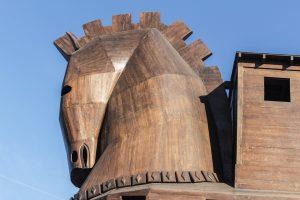 A trojan horse. Een trojaans paard.