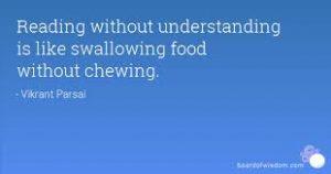 Reading without understanding is like swallowing food without chewing. Computers are able to read much more than human beings. Singularity. Lezen zonder het te begrijpen is als voedsel doorslikken zonder te kauwen. Computers zijn in staat om veel meer te lezen dan mensen. Singulariteit.