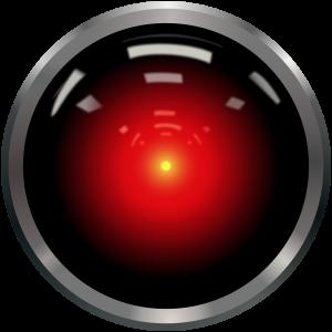 The camera eye of HAL 9000. 2001: A Space Odyssey. Singularity. Het camera-oog van Hal 9000. Singulariteit.