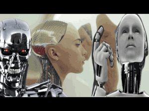 Three robots. Singularity. Drie robots. Singulariteit.