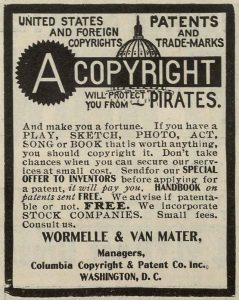 An old newspaper article on copyright and pirates. Een oud krantenartikel over auteursrecht en piraten.