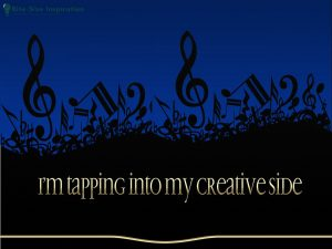 Music notes. I'm tapping into my creative side. Copyright. Muzieknoten. Ik focus op mijn creatieve kant. Auteursrecht.