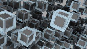 Blokken van de blockchain. Afbeelding linkt naar een tutorial over het coderen van smart contracts