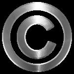 Copyright symbool, auteursrecht