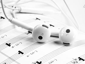 Headset, muzieknoten