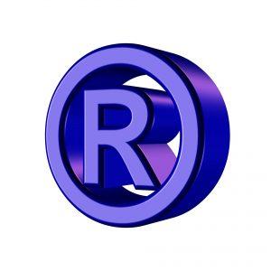 Symbool voor een geregistreerd handelsmerk