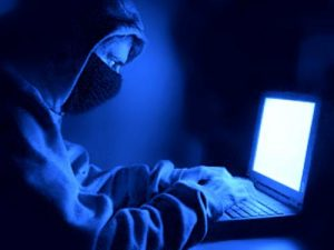 The DAO hacker behind his laptop. The DAO Hack. De DAO hacker achter zijn laptop. DAO Hack.
