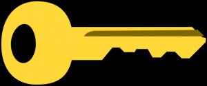 Een sleutel. Versleuteling en beveiliging. Cryptocurrency.