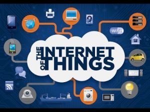 The internet of things en de blockchain. Apparaten gekoppeld aan het internet.