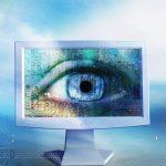 Een oog op een beeldscherm. Computer vision.