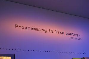 Programming is like poetry. Een citaat van Ed Fries. Solidity is een programmeertaal die wordt toegepast binnen het Ethereum netwerk.