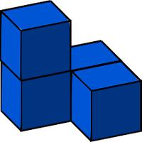 Blauwe blokken. Blockstack.