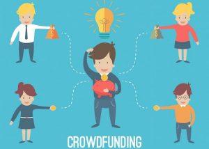 Een startup met een goed idee. Hij financiert zijn project door middel van crowdfunding. Vier mensen investeren in zijn plannen.
