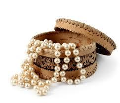 Juwelenkistje met parels.