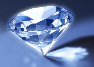 Blauwe diamant.