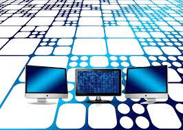 Netwerk, monitoren, interface.
