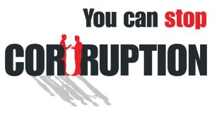 You can stop corruption.