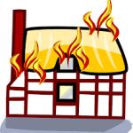 Brandend huis, brandverzekering.