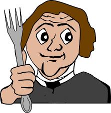 Man met vork.