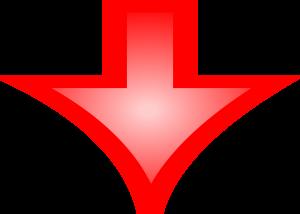 Rode pijl omlaag
