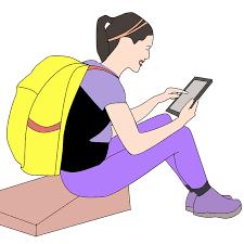Vrouw met iPad
