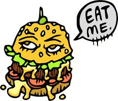 Broodje hamburger, eat me