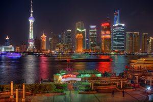Shanghai skyline, NEO smart economy.