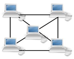 Nodes, node-applicatie, logische componenten van een blockchain.