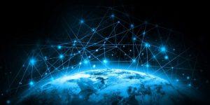 De wereld digitaal verbonden.