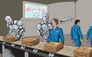 Robots versus mensen, robotisering.