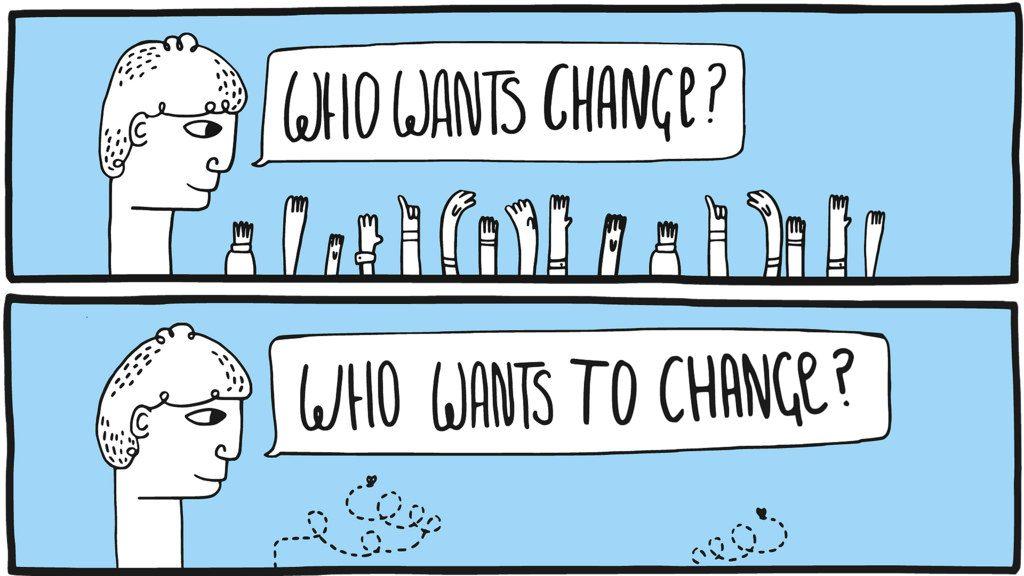 Who wants change? Who wants to change?