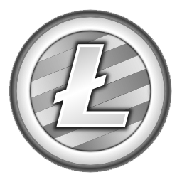 Litecoin logo, cryptocurrency.