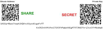 Bitcoin QR-codes voor het publieke adres en de private sleutel. Deze heb je nodig bij het aanmaken van een papieren wallet.