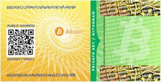 Bitcoin papieren wallet. QR-code