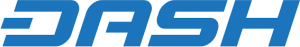 Dash logo, cryptocurrency.