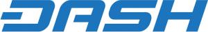 Dash logo, cryptocurrency.
