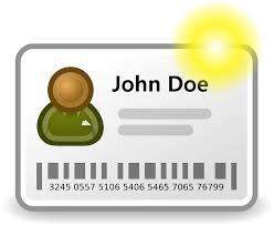 Identiteitsbewijs John Doe, identiteitsbeheer.