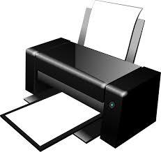Printer. Een print van de papieren wallet.