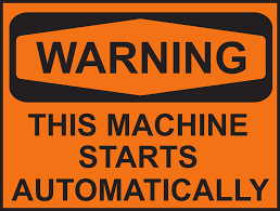 Warning this machine starts automtically. Blockchain en autonome smart contracts.