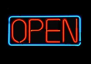 Open in neonletters