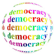 Democracy, democratie.
