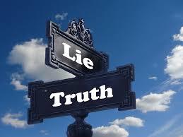 Lie, Truth. Leugen, waarheid.