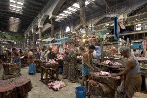 Markt in India.