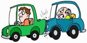 Aanrijding tussen auto's, kop-staartbotsing, verzekeringsbranche.
