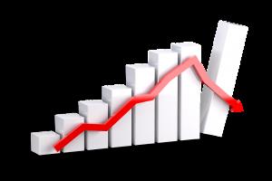 Grafiek, financiële markten, volatiliteit op de cryptomarkt, Aphelion.