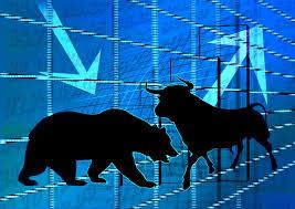 Stier en beer, financiële markt.