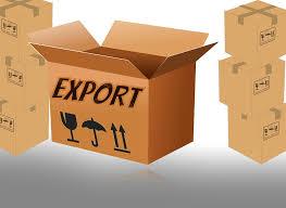 Een doos met de tekst: export